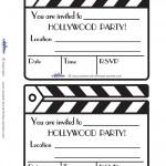 Printable Clapboard Invitations