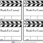 Printable Clapboard Thank You Cards