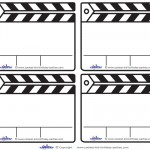Blank Printable Clapboard Thank You Cards