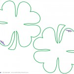 Blank Printable Clover Thank You Cards
