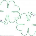 Blank Printable Clover Thank You Cards