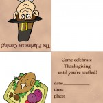 Printable Colored Pilgrim 1 / Turkey 2 Invitation