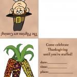 Printable Colored Pilgrim 1 / Wild Corn Invitation