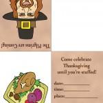 Printable Colored Pilgrim 2 / Turkey 2 Invitation