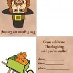 Printable Colored Pilgrim 2 / Wagon Invitation