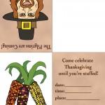 Printable Colored Pilgrim 2 / Wild Corn Invitation