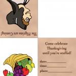 Printable Colored Pilgrim 3 / Cornucopia Invitation