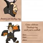 Printable Colored Pilgrim Invitation