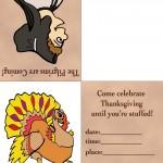Printable Colored Pilgrim 3 / Turkey 1 Invitation