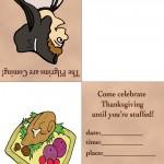 Printable Colored Pilgrim 3 / Turkey 2 Invitation