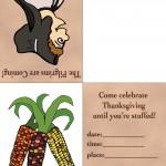 Printable Colored Pilgrim 3 / Wild Corn Invitation