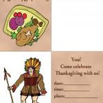 Printable Colored Turkey 1 / Indian Invitation