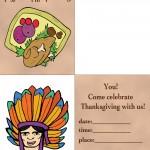 Printable Colored Turkey 1 / Indian Face 1 Invitation