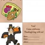 Printable Colored Turkey 1 / Pilgrim Invitation