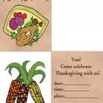 Printable Colored Turkey 1 / Wild Corn Invitation