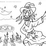 Printable Halloween Coloring Page 1