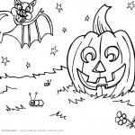 Printable Halloween Coloring Page 8