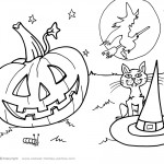 Printable Halloween Coloring Page 10
