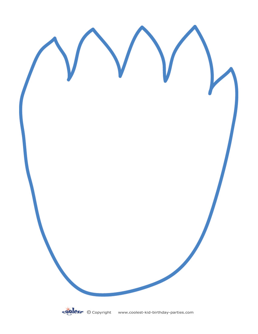 photo about Cookie Monster Printable named Printable Cookie Monster Footprint