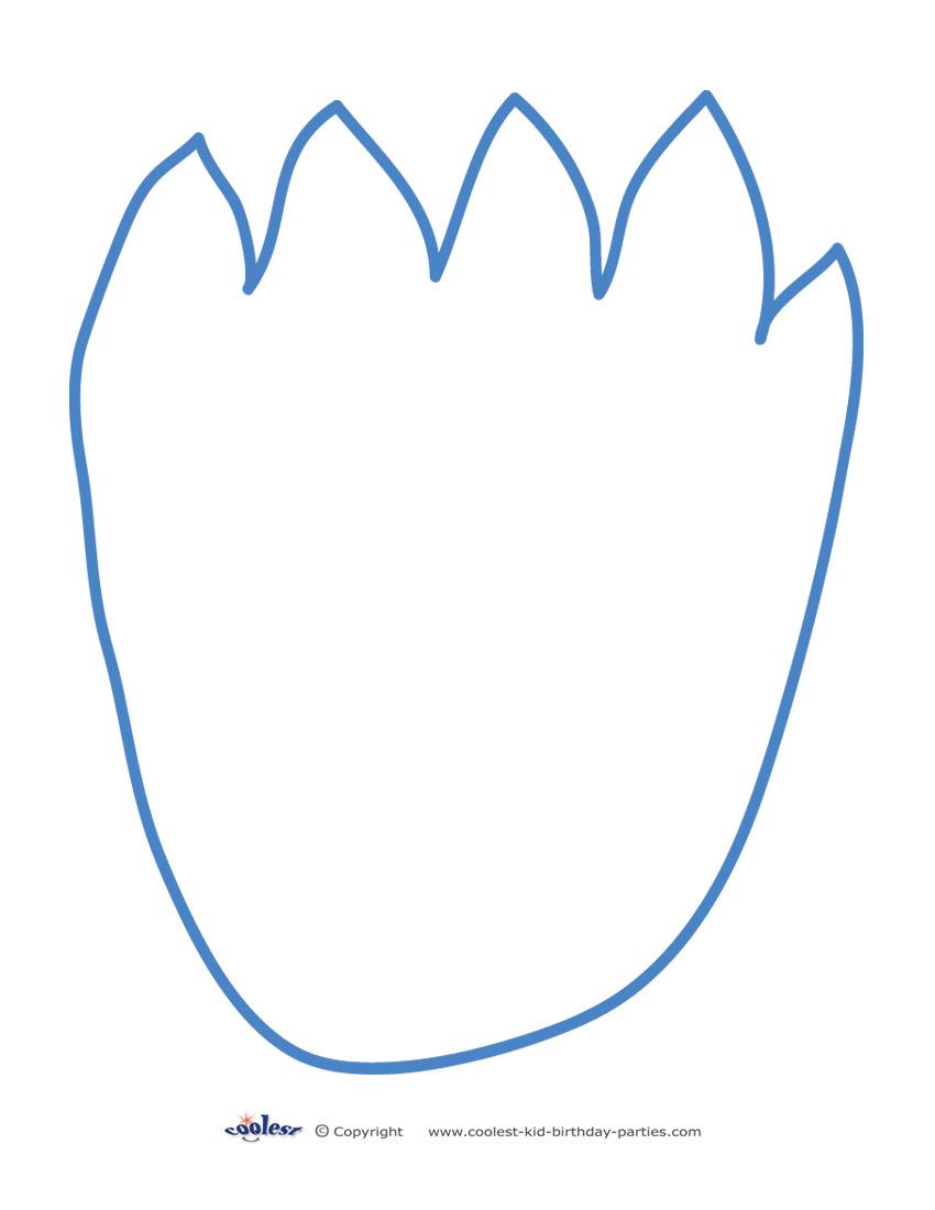 image about Footprint Printable titled Printable Cookie Monster Footprint