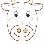 Large Printable Cow Decoration
