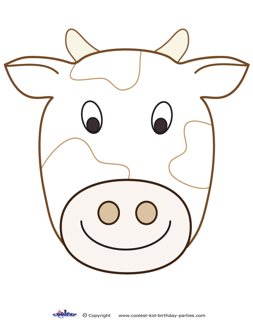 Cow mask printable for Coloring pages of cows free printable