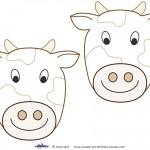 Medium Printable Cow Decorations