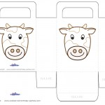 Printable Cow Favorbag