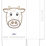 Large Printable Cow Favorbag