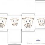 Printable Cow Favorbox