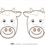Blank Printable Cow Invitations