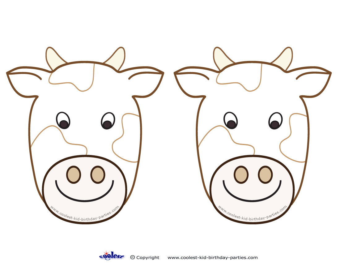 photo relating to Printable Cow referred to as Blank Printable Cow Invites