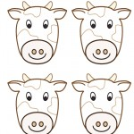 Blank Printable Cow Thank You Cards