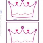 Blank Printable Crown Invitations