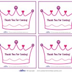 Printable Crown Thank You Cards