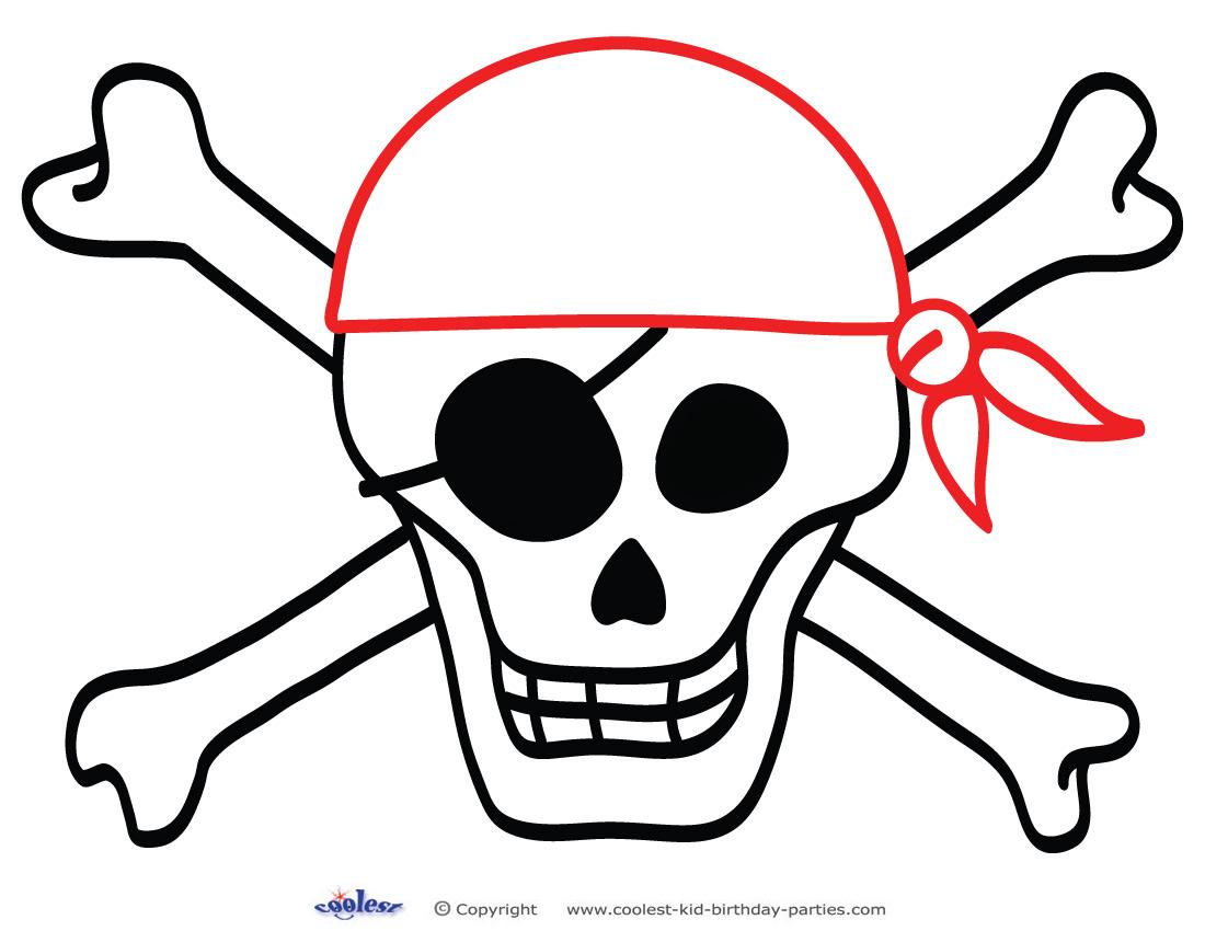 Printable Skull Decoration