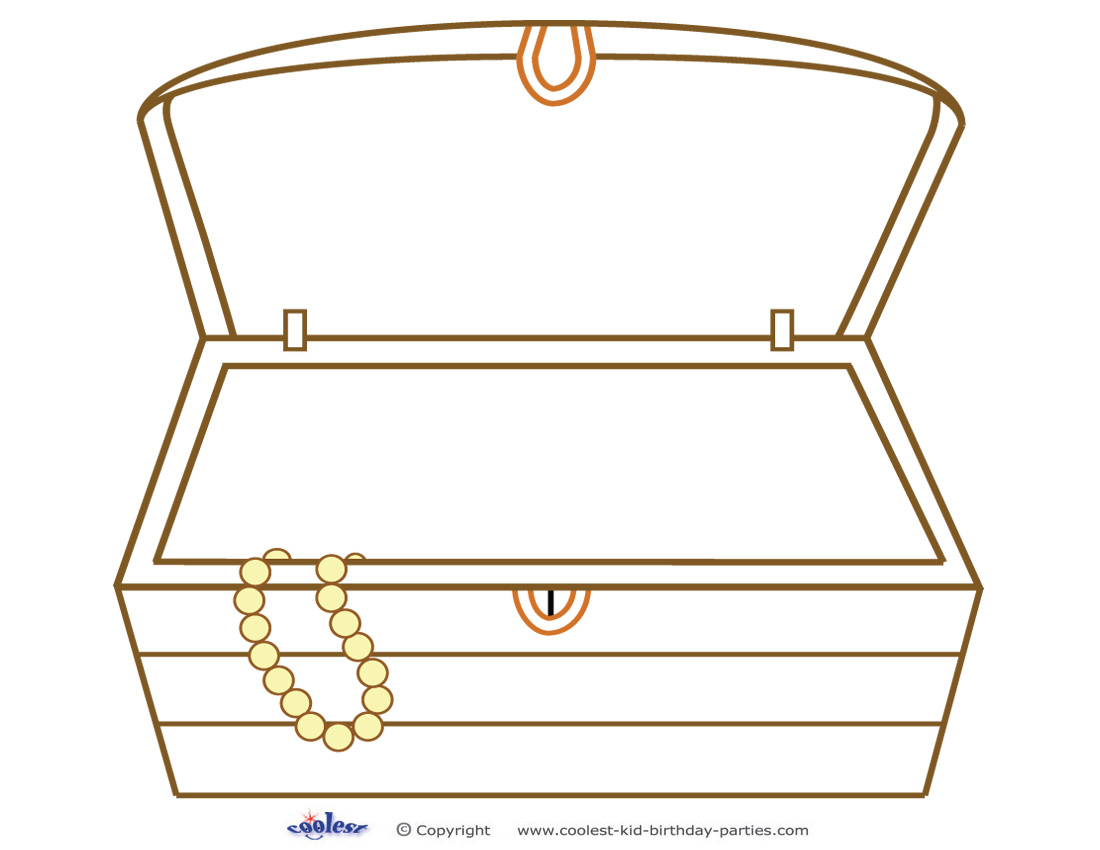 This is a graphic of Zany Printable Treasure Chests