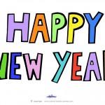 Printable Happy New Year Decoration