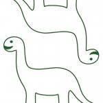 Medium Printable Brontosaurus Decorations