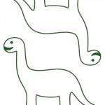 Medium Printable Brontosaurus Decorations