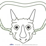 Printable Triceratops Dino Decoration