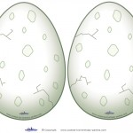 Medium Printable Dinosaur Egg Decorations