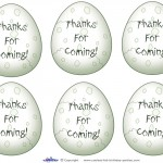 Printable Dinosaur Egg Thank You Cards