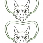 Medium Printable Triceratops Dino Decorations