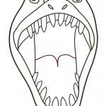 Printable T-Rex Dino Decoration