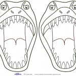 Medium Printable T-Rex Dino Decorations