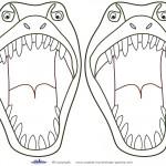 Medium Printable T-Rex Dino Decorations