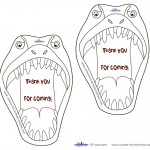 Printable T-Rex Dino Thank You Cards