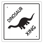 Printable Dinosaur Crossing Decoration
