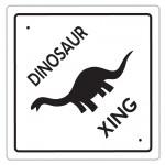 Printable Dinosaur Crossing Decoration